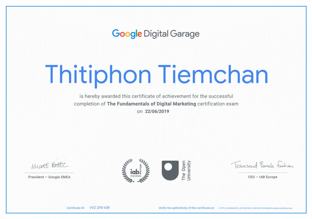 วิทยากรการตลาดออนไลน์ Google Certificate
