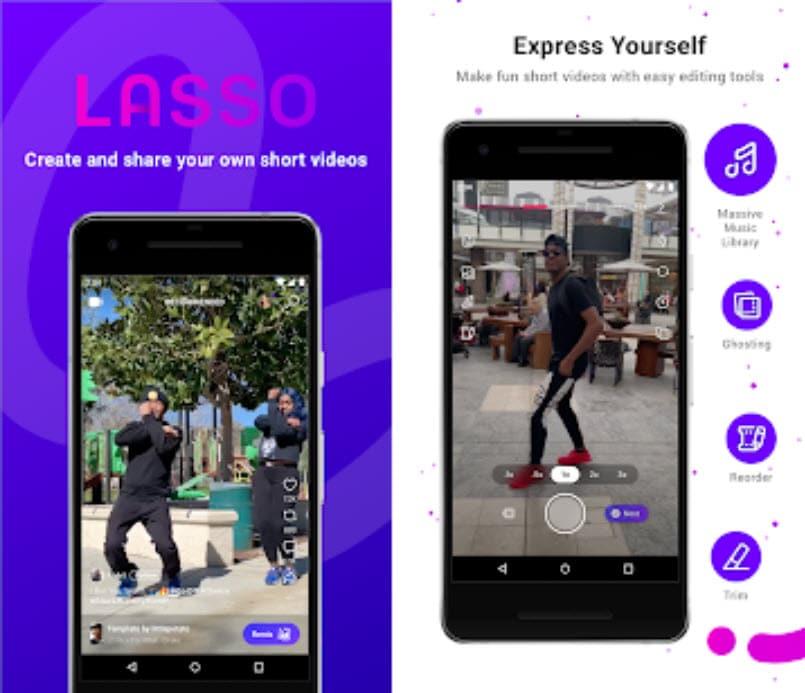 lasso facebook vs tiktok bytedance